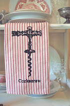 VINTAGE CORKSCREW KITCHEN TOWEL