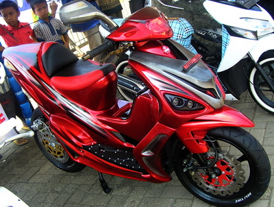 contoh modifikasi motor mio sporty black