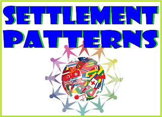 settlement patterns lesson plans, teaching about settlement, human geography resources
