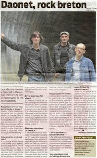 Daonet rock dans Presse Océan