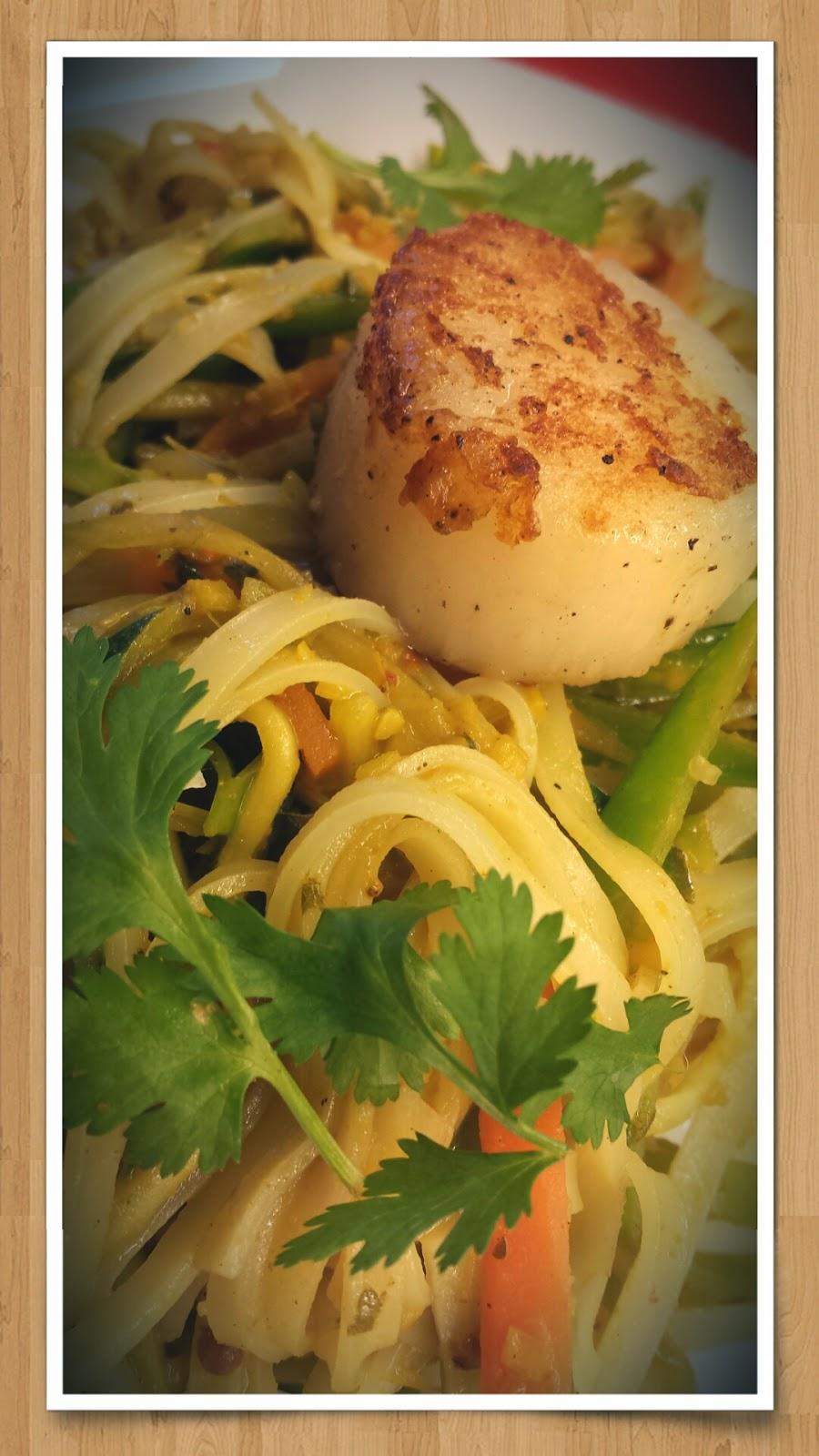 Jacobsmuscheln Currygemüse