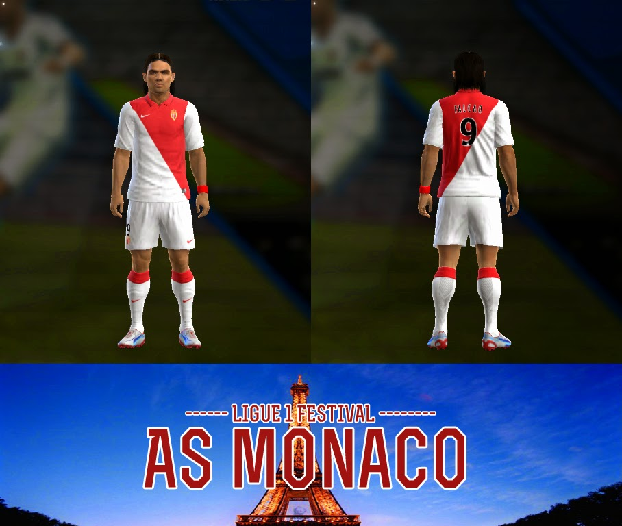 PES 2013 AS Monaco 14/15 Kits by AkmalRW