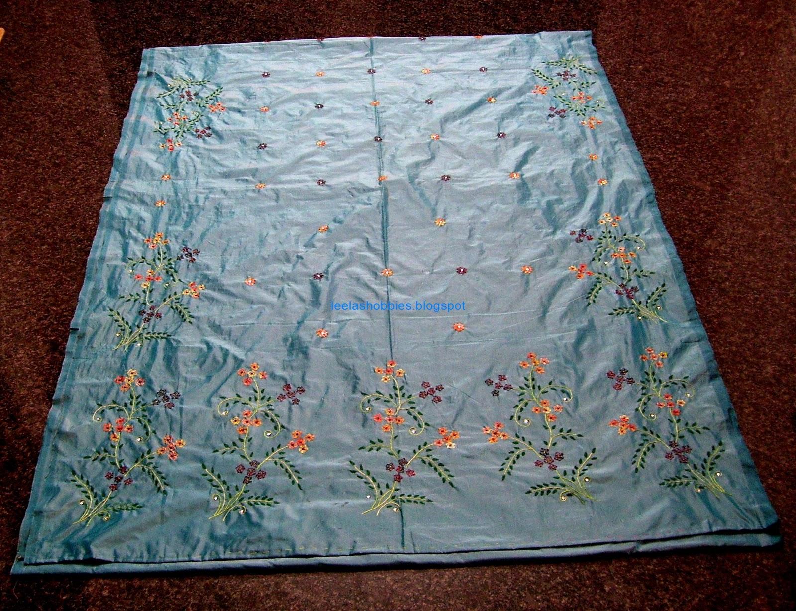 Leelas Hobbies Hand Embroidery Saree