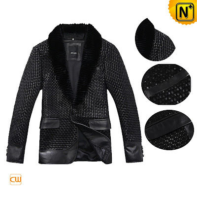 Quilted Sheepskin Leather Jacket