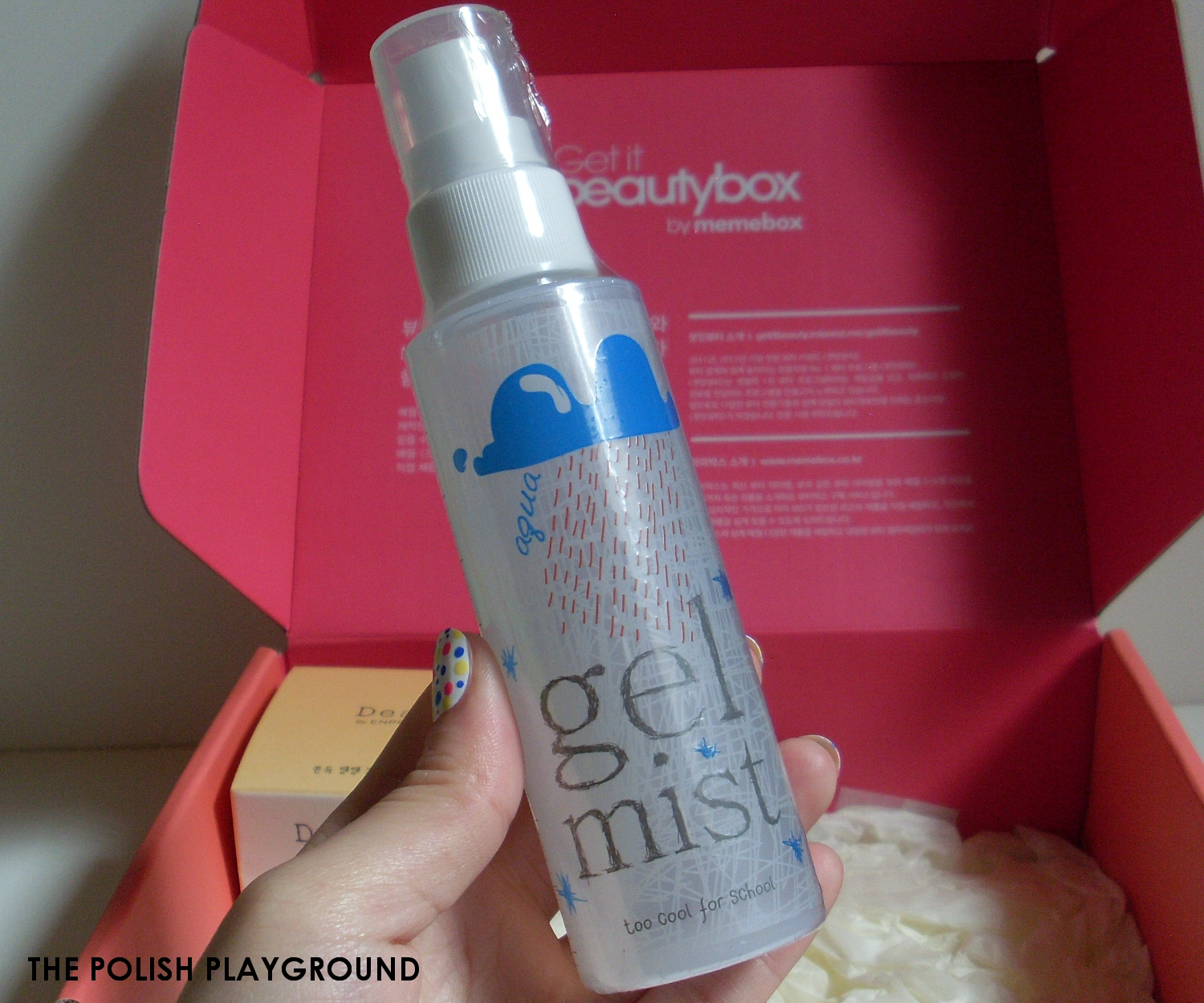 Memebox Luckybox #1 Unboxing and First Impressions - Too Cool For School Aqua Gel Mist