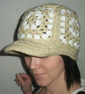 Sues Crochet and Knitting: Granny Square Cap and Bill ...