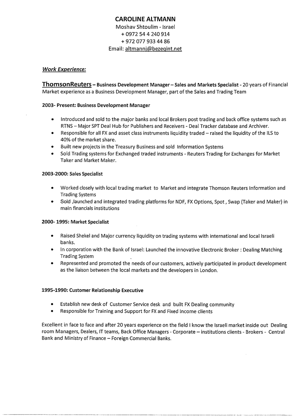 Business Development Resume Objectives