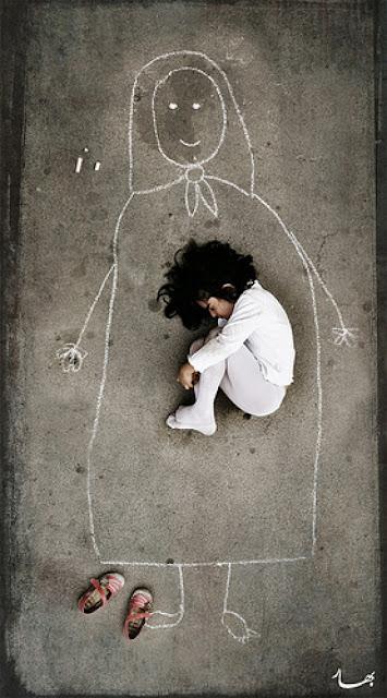 Το κοριτσάκι με την κιμωλία-μορφή τέχνης και όχι θύμα πολέμου