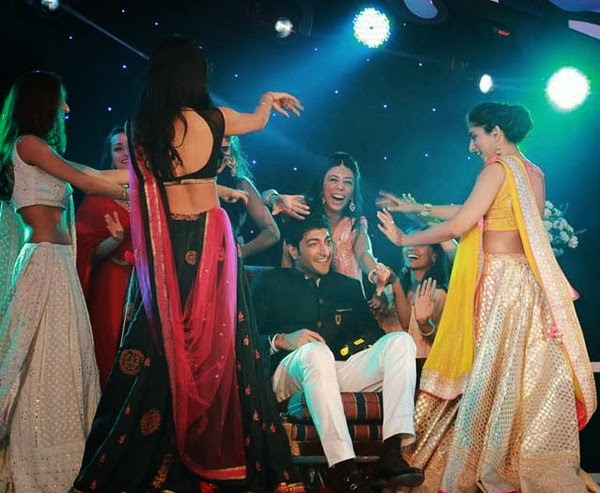 Vaibhav with dancers