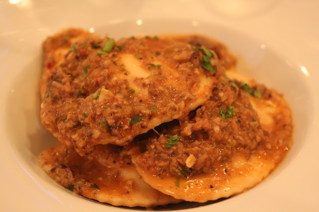 Short rib ravioli at Pulcinella Mozzarella Bar and Restaurant, Boston, Mass.