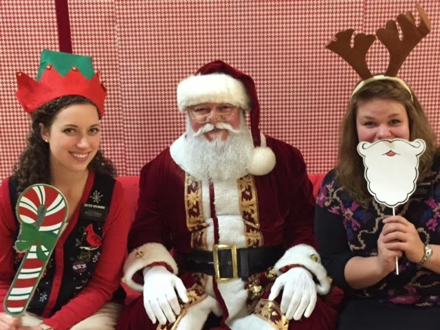 Sister Browning with Santa Claus and Sister Hame
