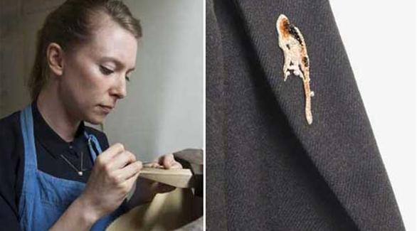 مجوهرات من روث الحيوانات , صور لمجوهرات مصممة من روث الحيوانات , فنانة بريطانية تصمم مجوهرات من روث الحيوانات