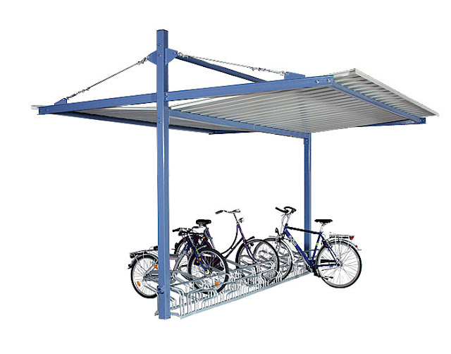 Fahrradüberdachung IMPERIA - doppelseitig