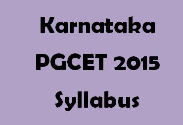 Karnataka PGCET 2015 MCA Syllabus