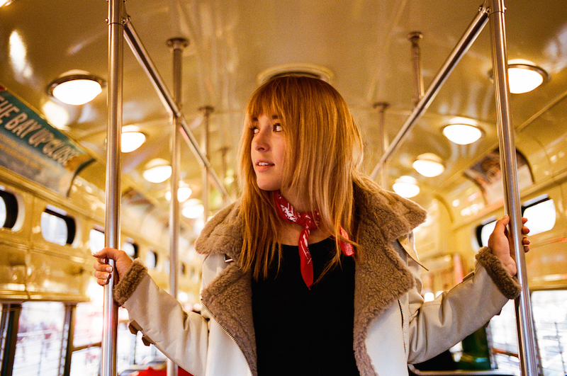 San Francisco F-Train Fashion Shoot Urban Outfitters Mod 1960's British Style on Fashion Blogger Bryn Newman of Stone Fox Style