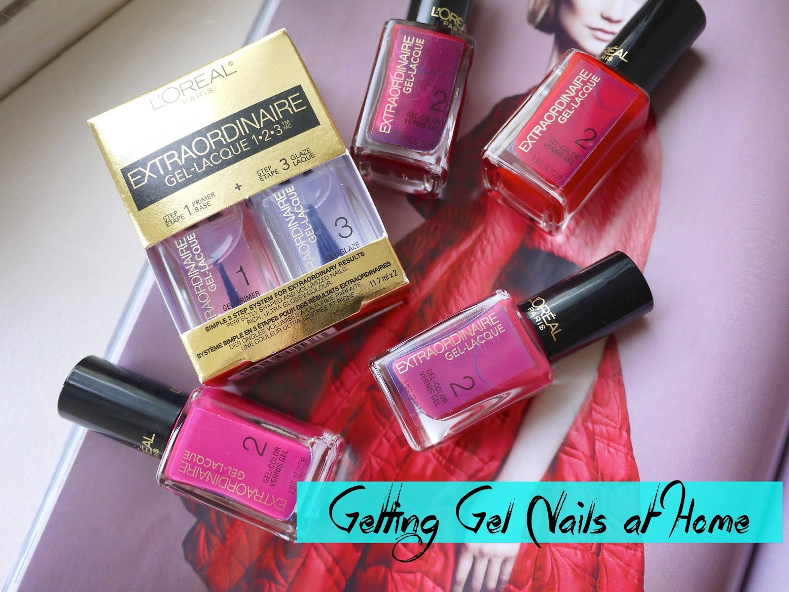 l'oreal extraordinaire gel-lacque 1-2-3 primer and glaze kit review swatch
