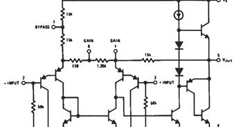 lm386 audio amp ic internal circuit diagram the circuit