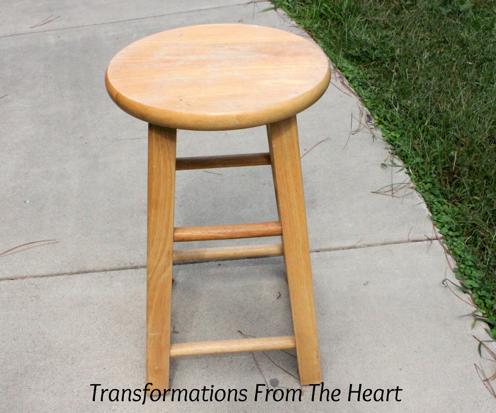 Transformations From The Heart: DIY Industrial~look Painted Wood Stool. Full resolution‎  picture, nominally Width 1600 Height 1334 pixels, picture with #996932.