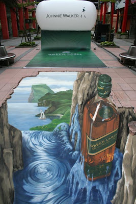 johnnie ads - pavement ads - street paintings 3d - pavement art
