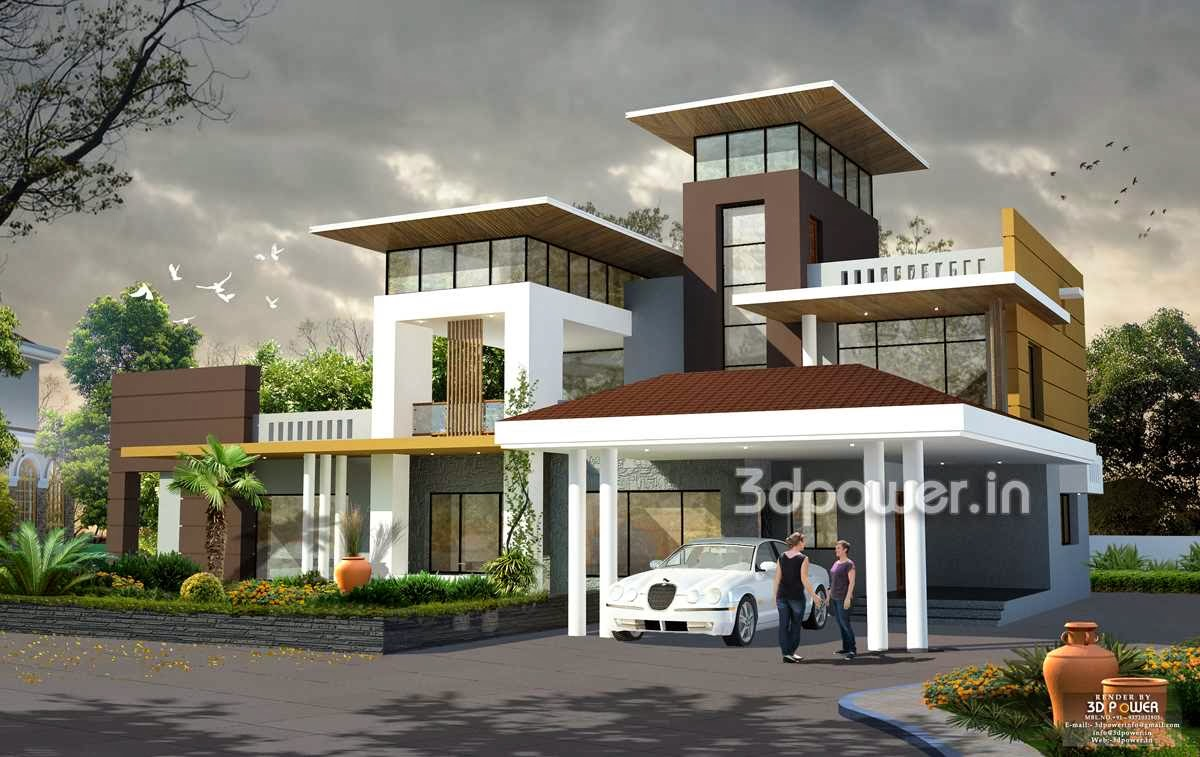 3d Visualization Exterior Perspective View House Part 66