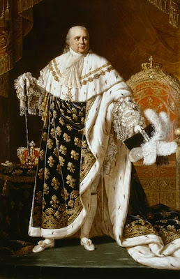 Portrait of Louis XVIII in Coronation Robes by Robert Lefèvre, 1822