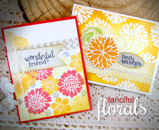 Friendship Flower cards by Jennifer Jackson | Fanciful Florals Bold Flower Stamp set by Newton's Nook Designs