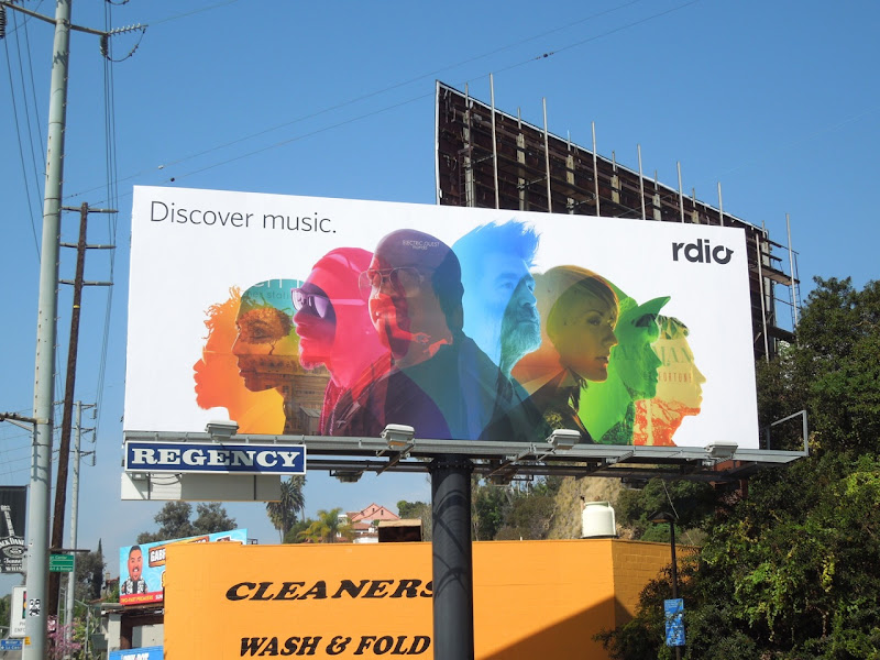Rdio Discover music billboard