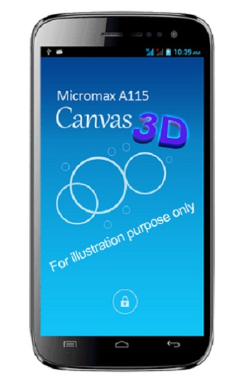 Micromax A115 Canvas 3D Spotted on Internet