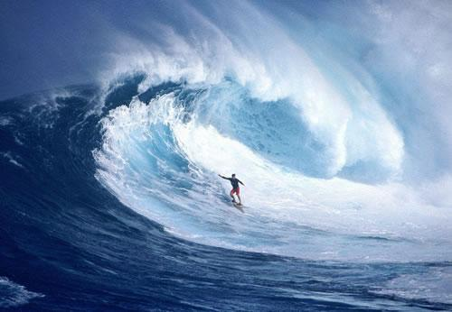 Beautiful waves for surfers