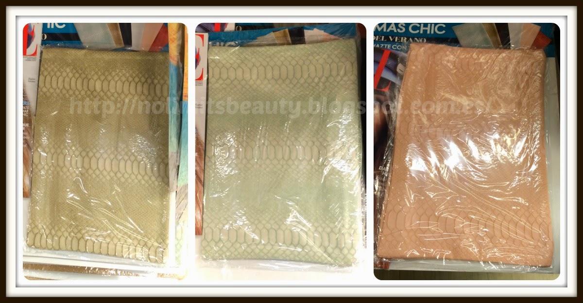 Regalos revistas agosto 2014: Elle (bolsos beige, verde y salmón)