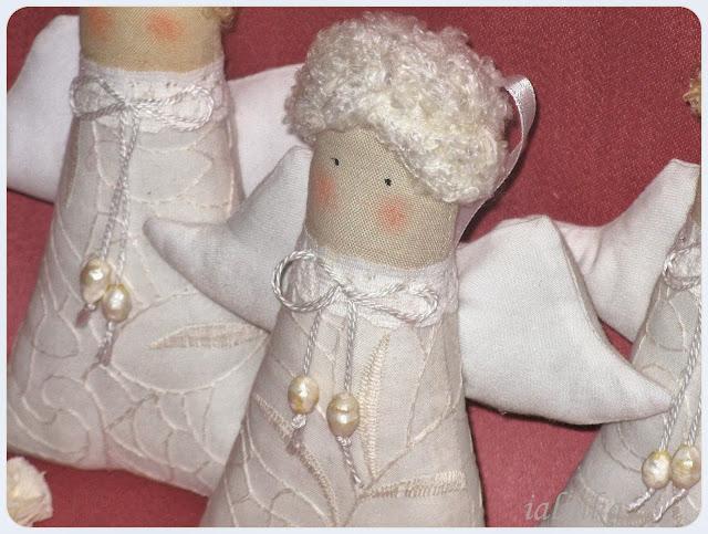 ангелы  в  стиле  Тильда,  новый  год,  рукоделие, ручная  работа,  подарок