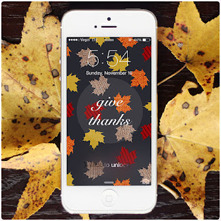 Thanksgiving DIY round-up: Thanksgiving iPhone screens