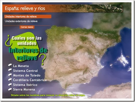 España. Relieve y ríos.