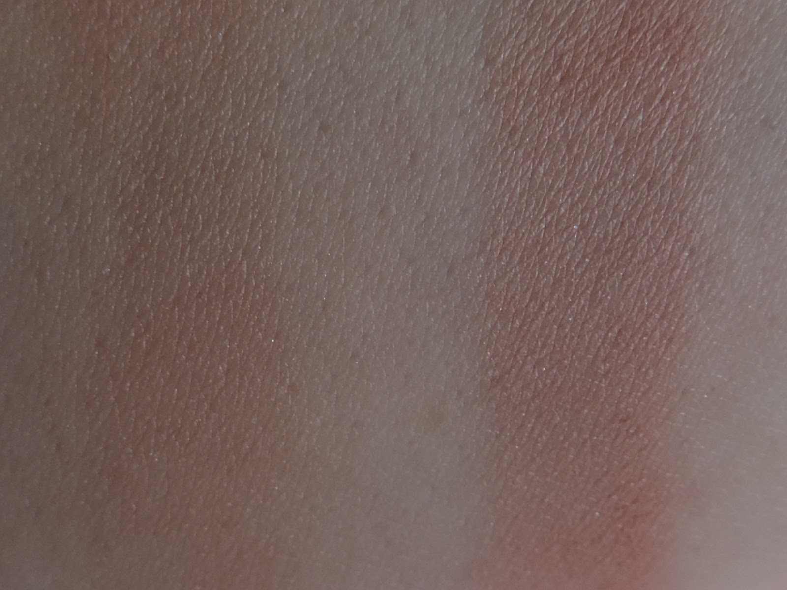 Swatches of Mood Exposure (left) blended out (right) single swipe