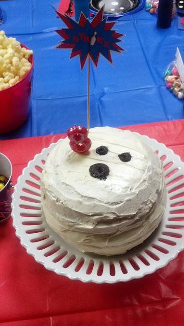 Bowling Ball Pinata Cake