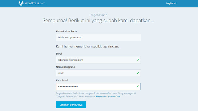 Cara membuat Blog di Wordpress.com