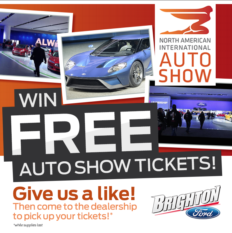 FREE 2015 Auto Show Tickets from Brighton Ford!