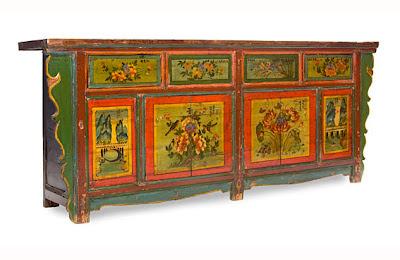 Muebles chinos y tibetanos for Muebles tibetanos