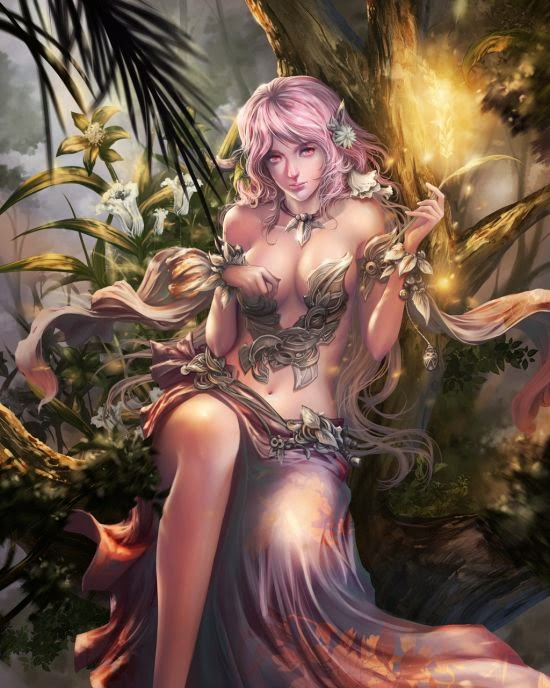 Antilous deviantart ilustrações fantasia mulheres sensuais