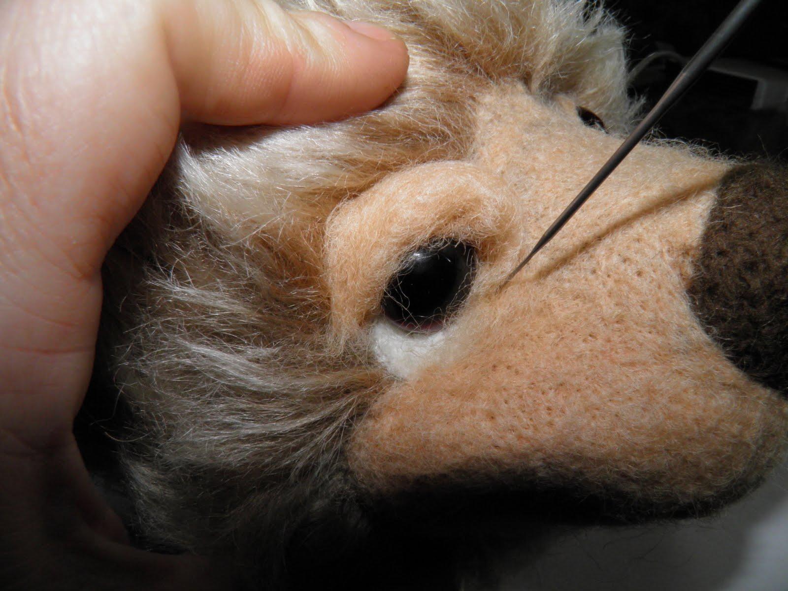 Как сделать мишке кожаный нос