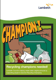 Front cover of Lambeth recycling leaflet