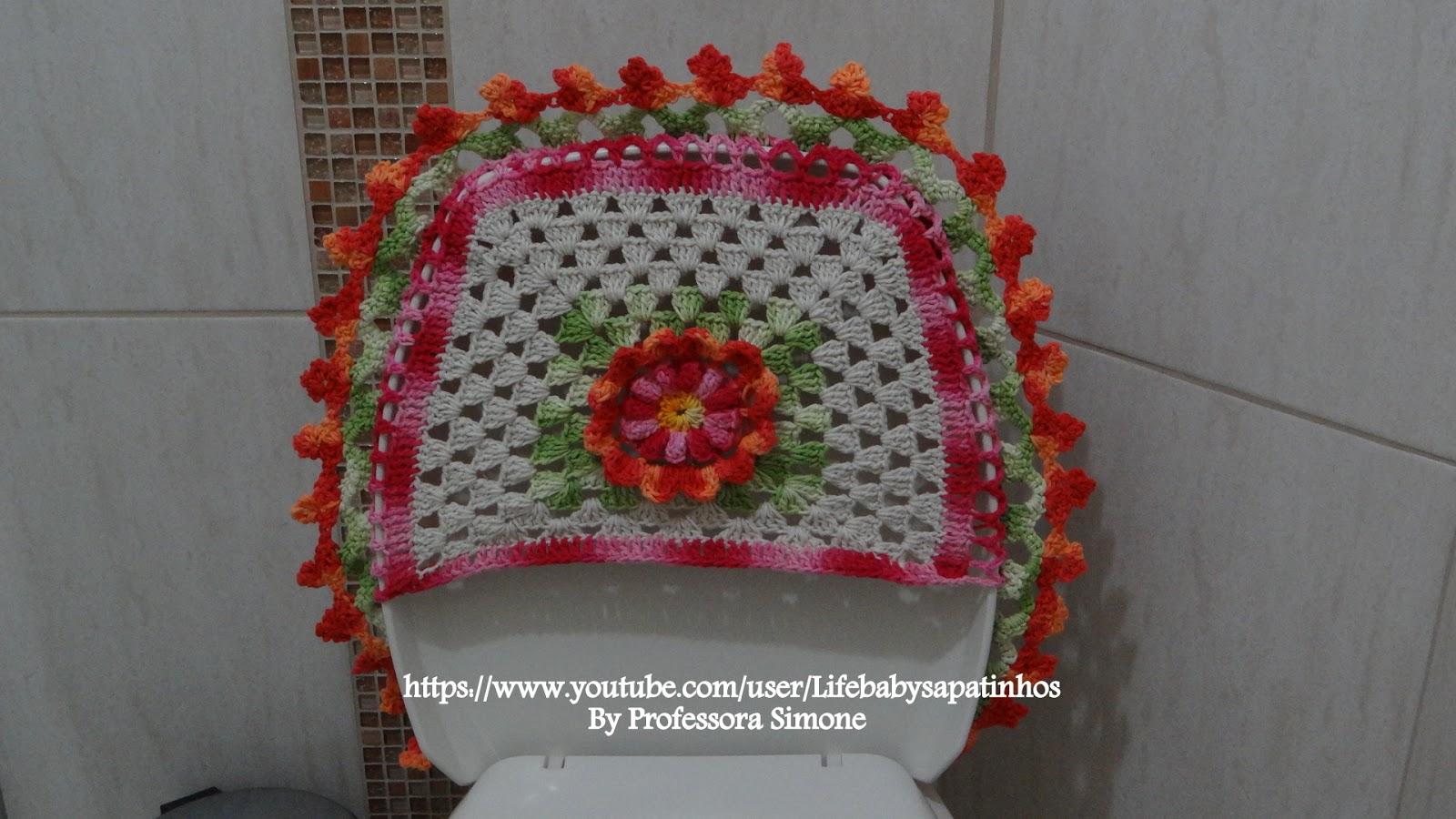 de Banheiro Jogo de banheiro em crochê com Gráfico Jogo de #A1452A 1600 900
