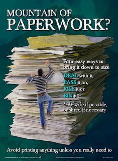 Paperwork posters