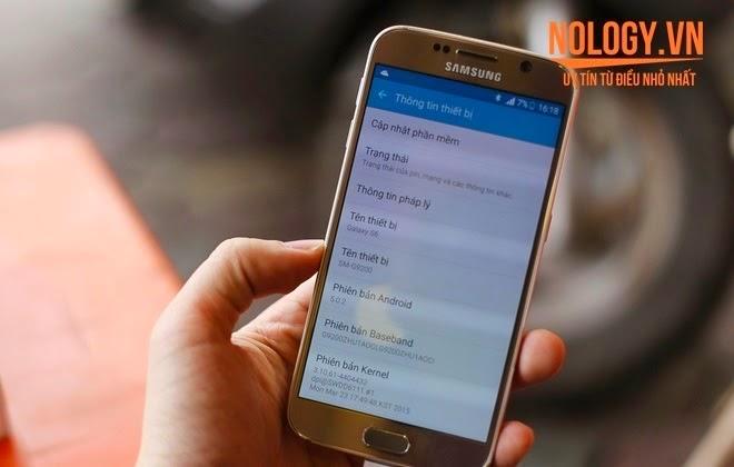 Cấu hình của Samsung galaxy s6 2 sim