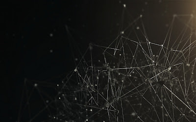 3D Wireframes Connected Each Other HD Desktop Wallpaper
