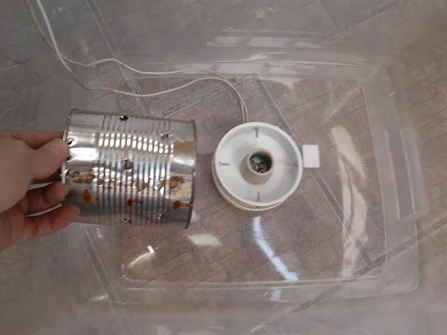 Lata para proteção do aquecedor central