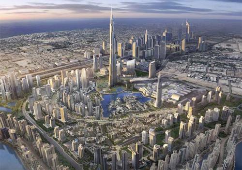 Burj al Khalifa Top View Burj al Khalifa