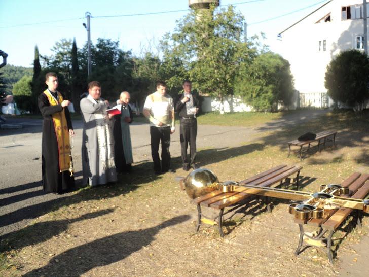 Освячення хреста відбулося з благословення пр.влад. Василія Семенюка(єп.Тернопільсько-Зборівського)