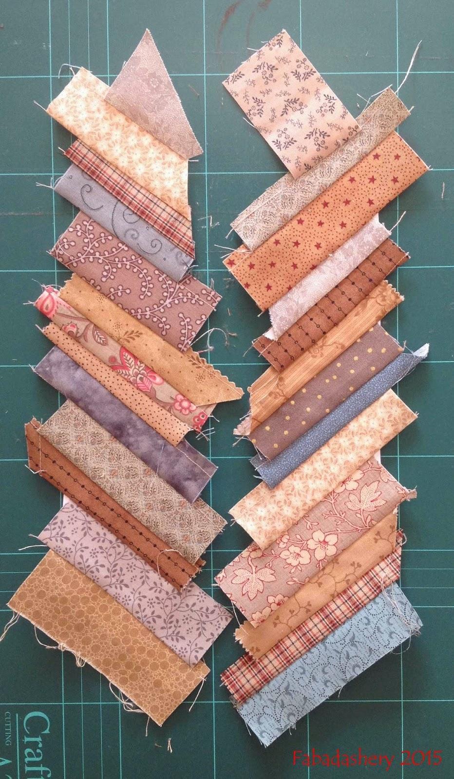 Foundation Piecing Scrap fabric