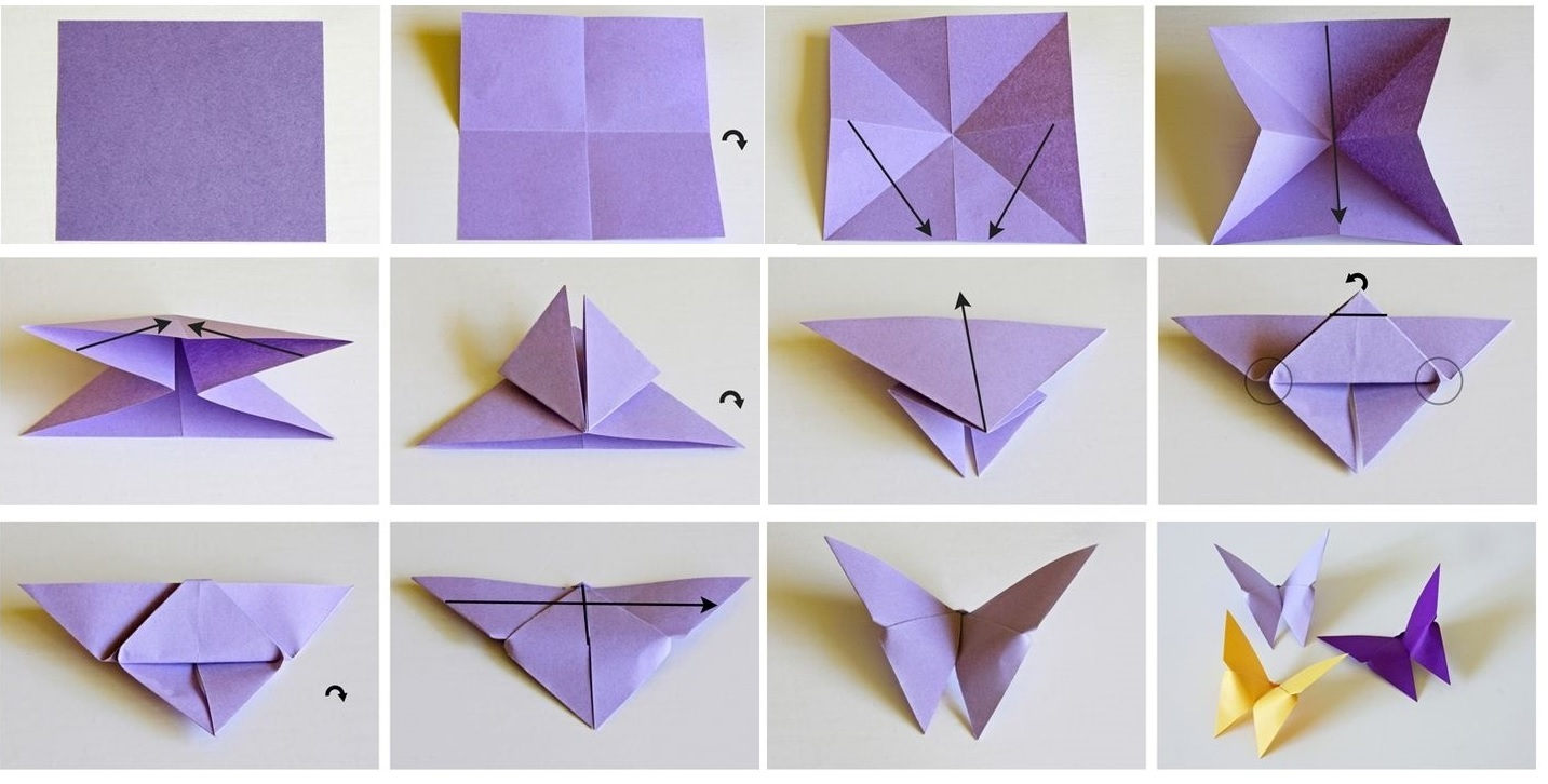 3d Origami Folding Instructions Small Swan Assembly Diagram For Beginner Tutorial